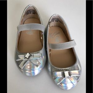 Toddler Girl Silver dress shoes